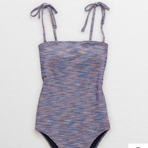 Aerie Space Dye Cheeky One Piece Swimsuit